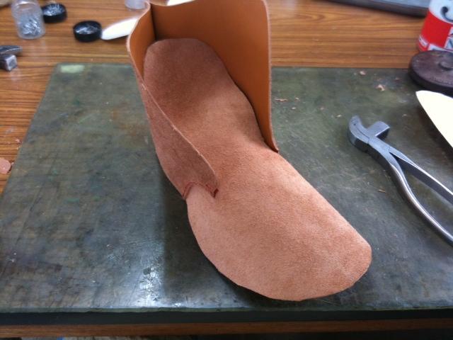 靴作り教室・仮靴作り01