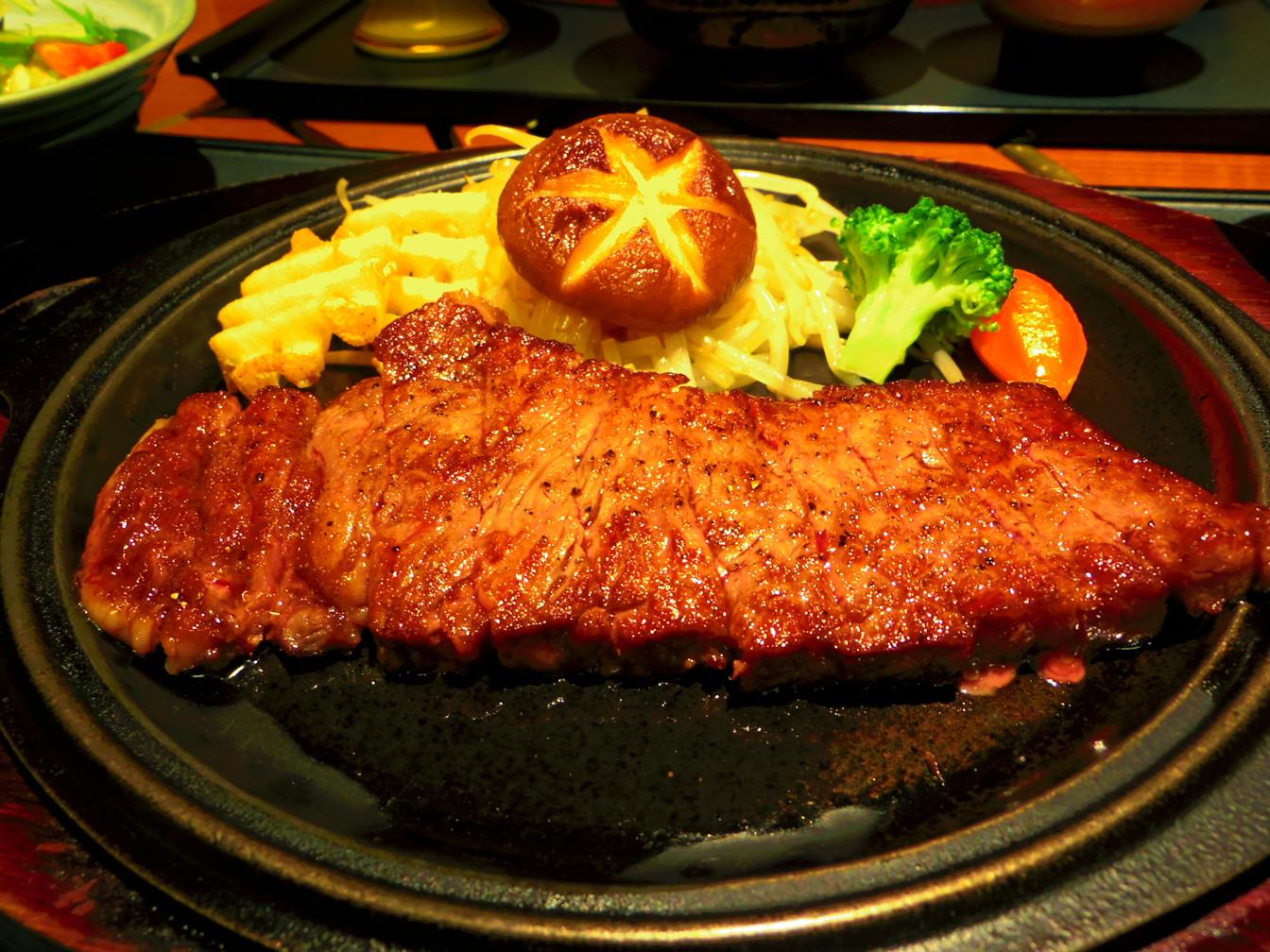 平戸牛のステーキ