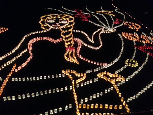 室見川の灯明まつり2014