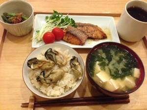 冷凍牡蠣で炊き込みご飯